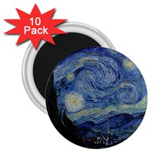 Starry night 2.25  Button Magnet (10 pack)