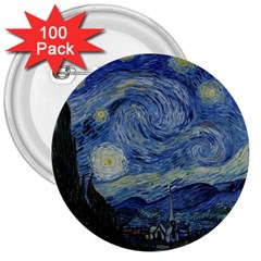 Starry Night 3  Button (100 Pack)