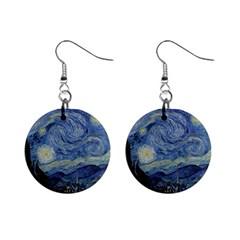 Starry night Mini Button Earrings