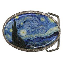 Starry night Belt Buckle (Oval)