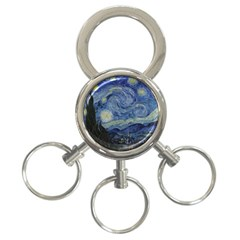 Starry Night 3 Ring Key Chain