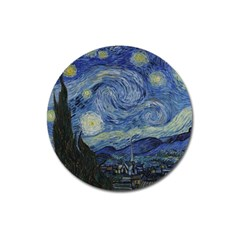 Starry night Magnet 3  (Round)