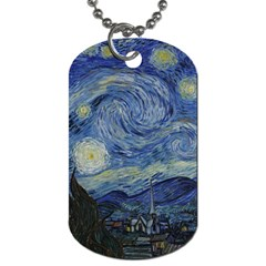 Starry Night Dog Tag (two Sided)