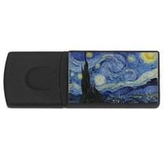 Starry night 2GB USB Flash Drive (Rectangle)