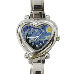 Starry Night Heart Italian Charm Watch