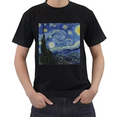Starry night Mens' Two Sided T-shirt (Black)