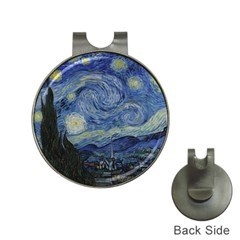 Starry night Hat Clip with Golf Ball Marker