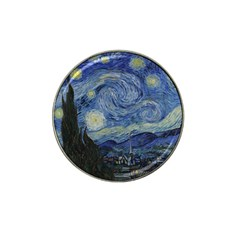 Starry night Golf Ball Marker 4 Pack (for Hat Clip)