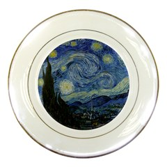 Starry Night Porcelain Display Plate