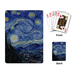 Starry night Playing Cards Single Design