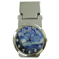 Starry night Money Clip with Watch