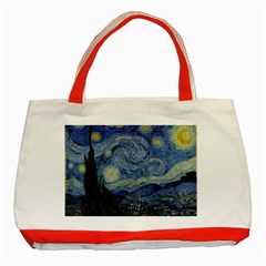 Starry night Classic Tote Bag (Red)