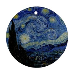 Starry Night Round Ornament (two Sides)