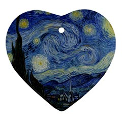 Starry night Heart Ornament (Two Sides)