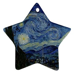 Starry night Star Ornament (Two Sides)