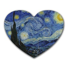 Starry night Mouse Pad (Heart)