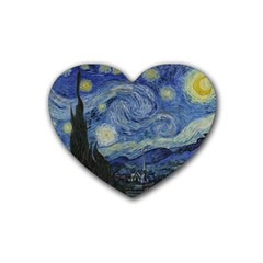 Starry Night Drink Coasters 4 Pack (heart)