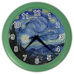 Starry night Wall Clock (Color)