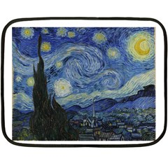 Starry night Mini Fleece Blanket (Two-sided)