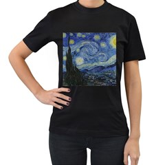 Starry Night Womens' T Shirt (black)
