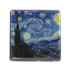 Starry night Memory Card Reader with Storage (Square)
