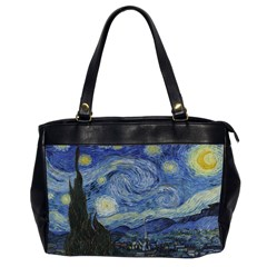 Starry night Oversize Office Handbag (Two Sides)