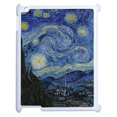 Starry night Apple iPad 2 Case (White)