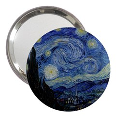 Starry night 3  Handbag Mirror