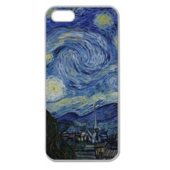 Starry Night Apple Seamless Iphone 5 Case (clear)