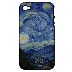 Starry night Apple iPhone 4/4S Hardshell Case (PC+Silicone)