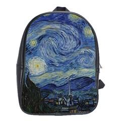 Starry night School Bag (XL)