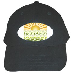 Along The Green Waves Black Baseball Cap