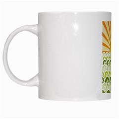Along The Green Waves White Coffee Mug