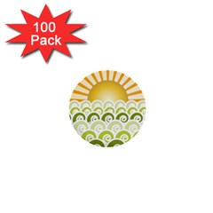 Along The Green Waves 1  Mini Button (100 Pack)