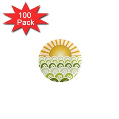 Along The Green Waves 1  Mini Button Magnet (100 pack)