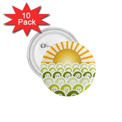 Along The Green Waves 1.75  Button (10 pack)