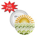 Along The Green Waves 1.75  Button (100 pack) Front