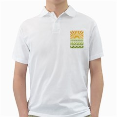Along The Green Waves Mens  Polo Shirt (White)