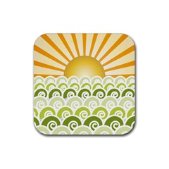 Along The Green Waves Drink Coasters 4 Pack (Square)