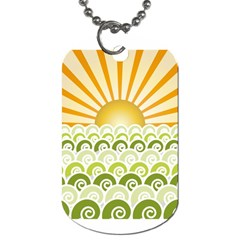 Along The Green Waves Dog Tag (one Sided)