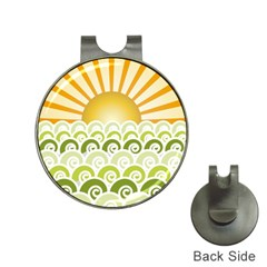 Along The Green Waves Hat Clip with Golf Ball Marker