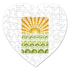 Along The Green Waves Jigsaw Puzzle (Heart)