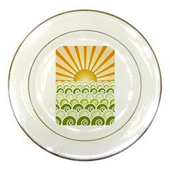 Along The Green Waves Porcelain Display Plate