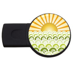Along The Green Waves 4GB USB Flash Drive (Round)