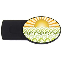 Along The Green Waves 4GB USB Flash Drive (Oval)