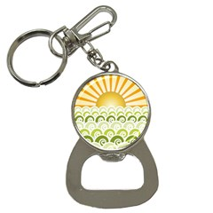 Along The Green Waves Bottle Opener Key Chain