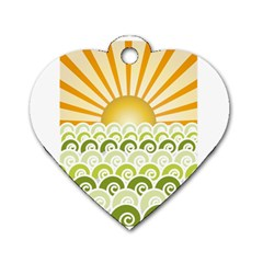Along The Green Waves Dog Tag Heart (one Sided)