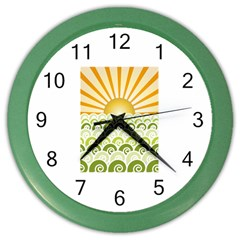 Along The Green Waves Wall Clock (color)