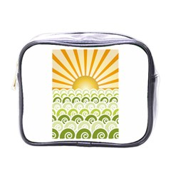 Along The Green Waves Mini Travel Toiletry Bag (one Side)