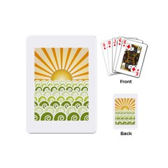 Along The Green Waves Playing Cards (mini)